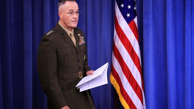 Marine Gen. Joseph Dunford, chairman of the Joint Chiefs of Staff.