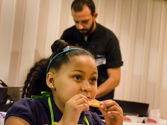 Local chefs showed students from Alice Boucher Elementary
