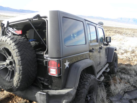 A Jeep Wrangler was one of three vehicles involved