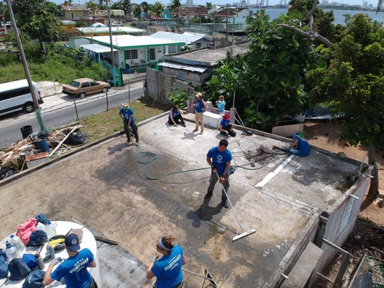 Students from CUNY and SUNY helped repair homes in Puerto Rico from July 15-28.