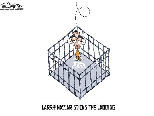Larry Nasser cartoon
