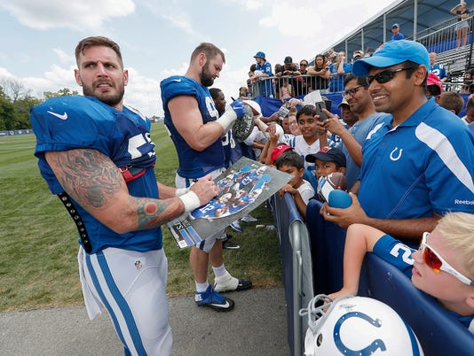Indianapolis Colts training camp at Grand Park in Westfield.