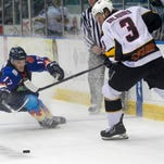 Florida's Evan Bloodoff had a goal in the Everblades' 4-0 victory over the South Carolina Stingrays
