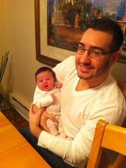 Anthony D'Ambrosio with his niece.