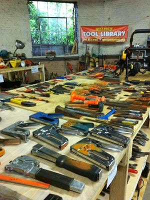 Expect the DIY approach at a facility where patrons might check out saws, sanders and other handy gadgets.