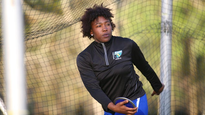 Godby junior Dorian Solomon is the defending 2A state champion in shot put after just one season in the event, and she's added discus to her regimen this year.