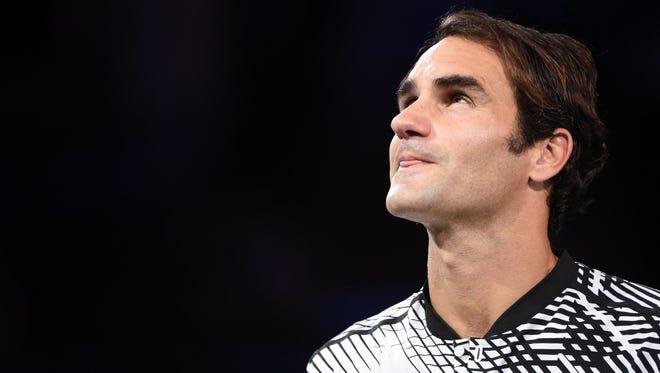 Roger Federer after winning the 2017 Australian Open
