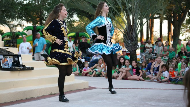 Irish step dancers from Florida Arts and Dance Co. perform at the Shamrock Fest.