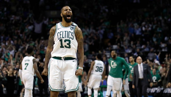 Marcus Morris and the Celtics are 1-4 on the road this postseason.