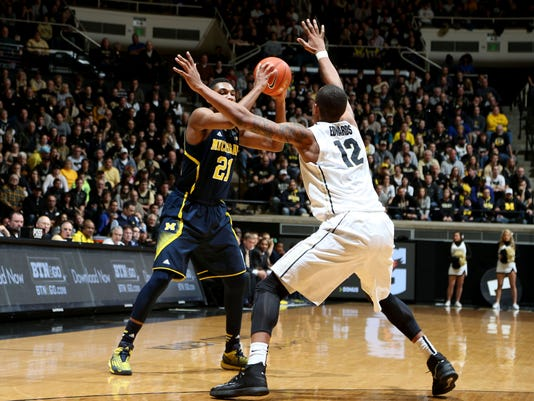 NCAA Basketball: Michigan at Purdue