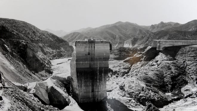 This photo was taken in March 1928, days after the St. Francis Dam collapse near Santa Clarita.