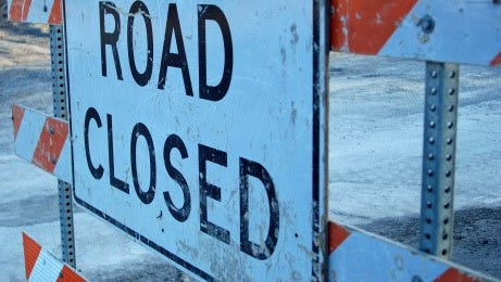 East Saginaw Highway is closed between Broadbent Road and Commercial Drive due to downed power lines.