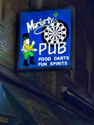 Moriarty's Pub sign,  July 3, 2007.