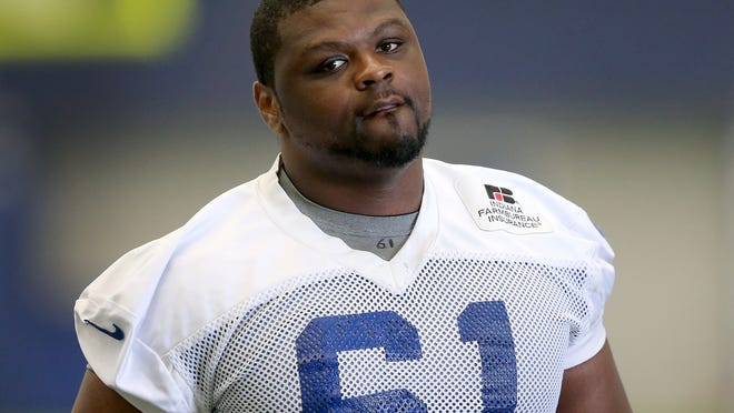 The Indianapolis Colts held final day of minicamp Thursday, June 19, 2014, afternoon at the Colts Complex in Indianapolis. Here is DT Jeris Pendleton.