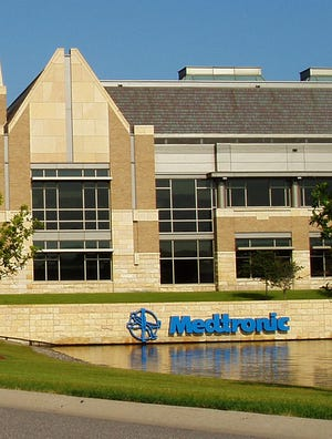 The suburban Minneapolis headquarters of Medtronic, whose proposed merger with Ireland's Covidien is one of several corporate tax inversion deals being pursued by U.S. companies.