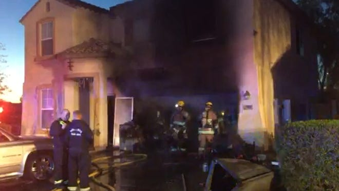 A neighbor alerted a family to house fire in Tolleson near 91st Avenue and Lower Buckeye Road.