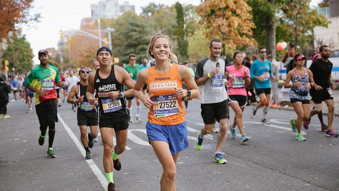 Stephanie Wagner, of the Town of Poughkeepsie, runs in the New York City Marathon.