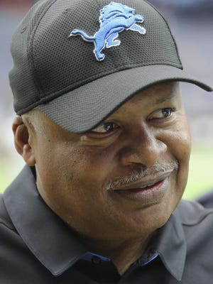 Detroit Lions coach Jim Caldwell looks on before a game against the Houston Texans on Oct. 30, 2016, in Houston.