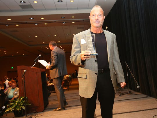 Felice Chiapperini, who was let go amid a reorganization on Thursday, received the Chamber Volunteer Award during the Greater Coachella Valley Chamber of Commerce Awards in Indio, June 23, 2016.