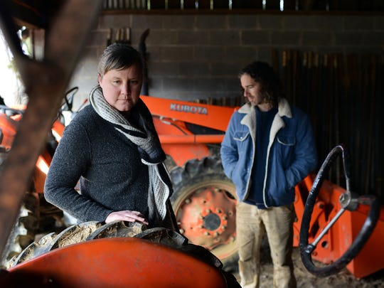 Christina Carter and Kevin Toomey of Ten Mile Farm.
