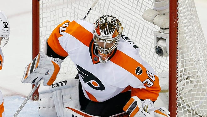 Michal Neuvirth made 44 saves in a Game 5 shutout.