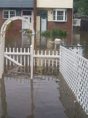 Flooding at Squire's Gate as a result of Hurricane Irene in 2011.