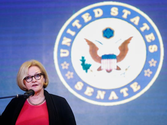 Sen. Claire McCaskill answers questions from the audience