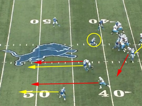 The Titans free up space with play action to get tight end Phillip Supernaw open in the flat.