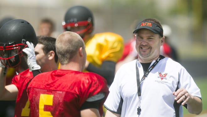 Arizona Christian coach Donnie Yantis (right) is set to join Todd Graham's staff at ASU.