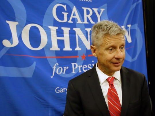 Libertarian presidential candidate Gary Johnson, seen in this photo taken May 27, 2016, received more than 206,000 votes in Florida.