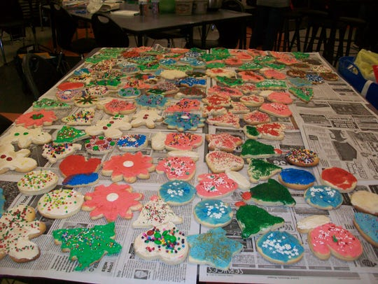 Cookies decorated by Rozelleville Rockets 4-H Club