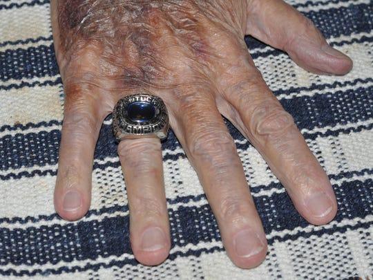 Bill Smith's NCAA championship ring reads Kentucky
