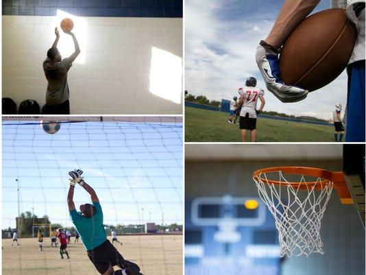 high school sports practice