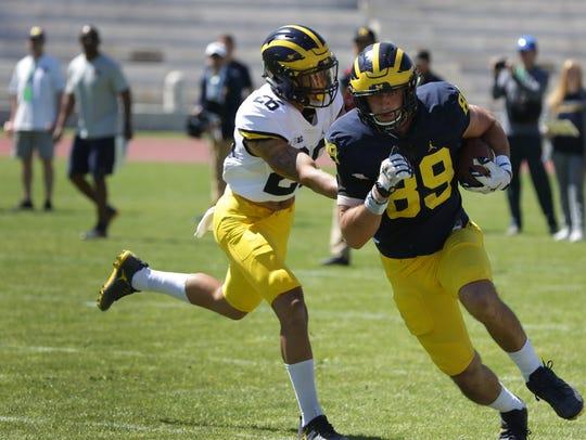 University of Michigan football player Ian Bunting