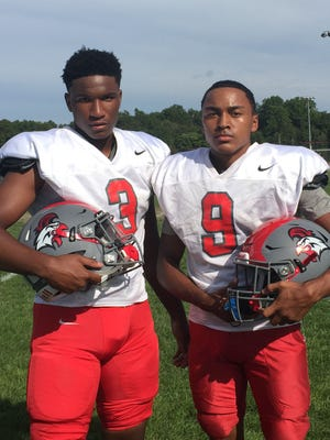 Tahjir Rease (left) and Jamal Brooks will make their team debuts with Vineland following their transfers from other high schools.