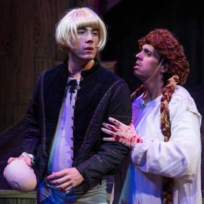 Riley Shanahan plays Riley (playing Hamlet) and Marco