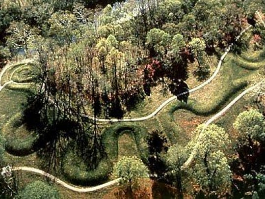 Serpent Mound, located one hour east of Cincinnati,