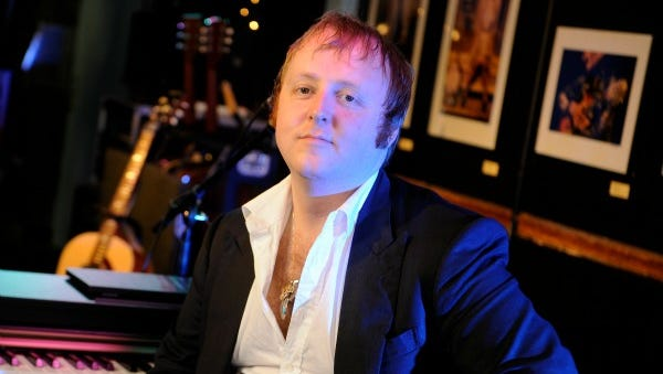 James McCartney, Paul McCartney's son, before performing at the Bluebird Cafe Tuesday, June 11, 2013 in Nashville, TN.