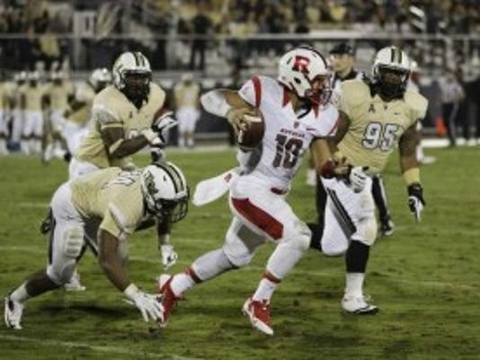 Rutgers quarterback Gary Nova hasn't played in a game since Nov. 21 against UCF but he will be the season-opening quarterback for the third straight season. (AP)