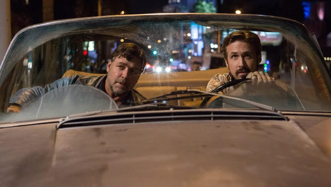 """Ryan Gosling, right, and Russell Crowe star in """"The Nice Guys."""""""
