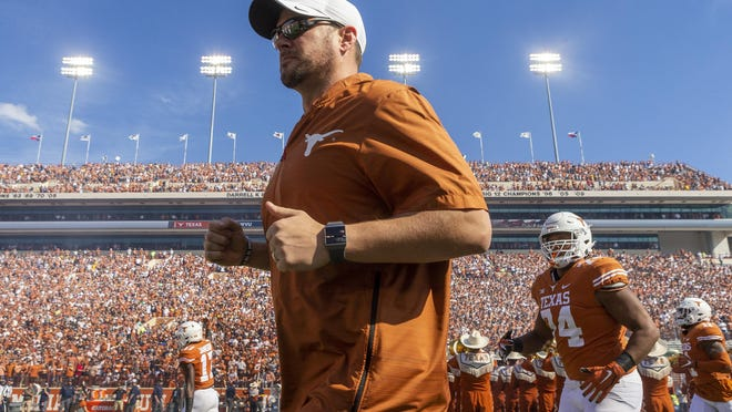 Something like this -- Texas coach Tom Herman leading his Longhorns onto the field at Royal-Memorial Stadium before a game -- will be a welcome sight for college football fans Saturday. Big 12 teams across the conference are opening their seasons this weekend.