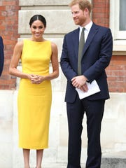 Prince Harry and Duchess Meghan of Sussex at a Commonwealth