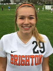 Brighton senior Kelsey Adams had the game-winning goal in a 1-0 win over Northville.