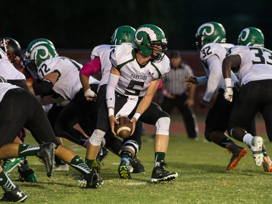 Parkside's Andrew Smith (5) prepares for a running