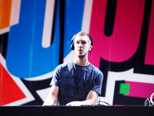 DJ Calvin Harris was the highest paid DJ in the world in 2014, making $66 million, according to Forbes. Born Adam Richard Wiles, the former grocery store stocker earned $66 million in the forbes.com scoring period, playing more than 125 gigs.