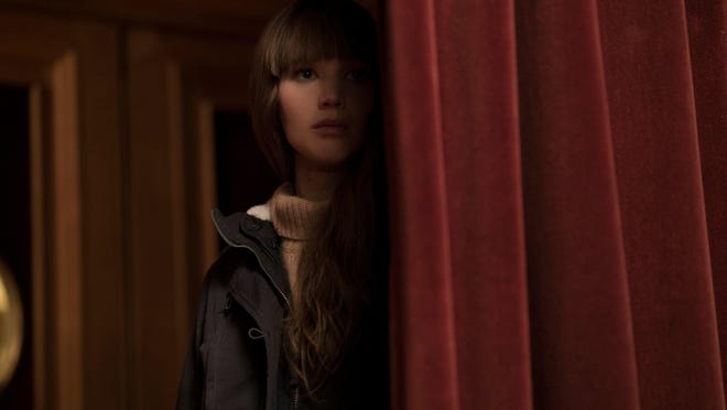 """Jennifer Lawrence is a Russian spy and trained seductress in """"Red Sparrow,"""" in theaters March 2."""