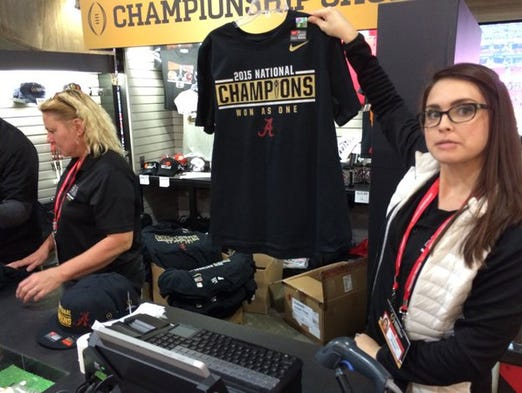 Merchandise shops were ready to go with winning team