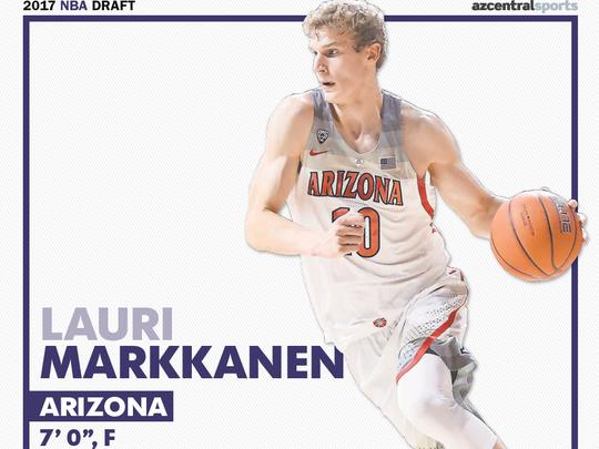 University of Arizona product Lauri Markkanen is among