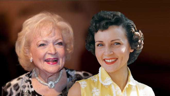 """Betty White, left and right, is the focus of """"Betty White"""" First Lady of Television,"""" which premieres Aug. 21 on PBS."""
