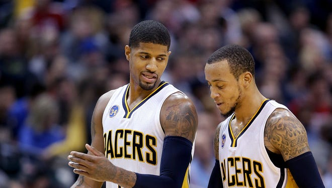 Paul George and Monta Ellis are still trying to figure out each other's tendencies.